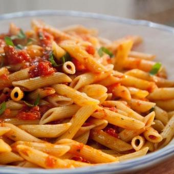 Arrabiata Pasta with Salmon